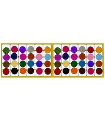 Multicolor Felt Round Bindis