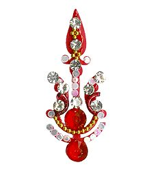 Buy Saffron Stone Studded Designer Bindi