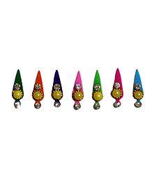 7 Multicolor Felt Bindis