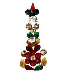 Multicolor Stone Studded Long Bindi