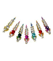 Multicolor Long Stone Bindis