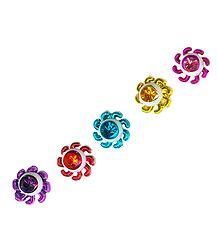 Multicolor Wheel Bindis