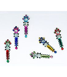 Multicolor Long Bindis