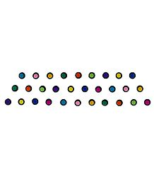 Multicolor Round Felt Bindis