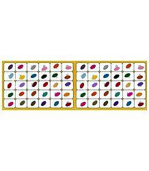 Multicolor Oval Felt Bindis