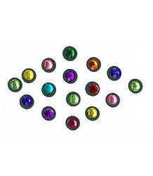 Multicolor Round Stone Bindis