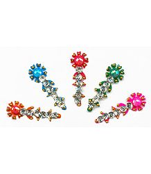 Multicolor Stone Studded 5 Long Bindi