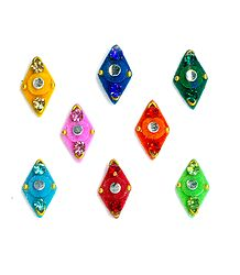 Colorful Diamond Shaped Bindis