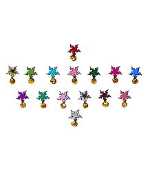15 Stone Studded Multicolor Star Bindis