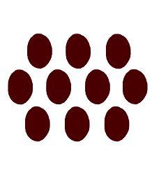 10 Red Felt Oval Bindis