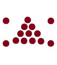 14 Red Round Felt Bindis