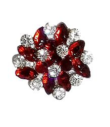 Red with White Stone Designer Bindi