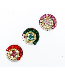 Stone Studded Three Round Bindis