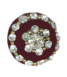 White Stone Studded Round Single Bindi