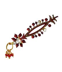 Maroon Stone Studded Long Bindi