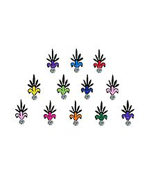 Multicolor Small Flower Pot Bindis