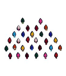 30 Small Bindis with Multicolor Stone
