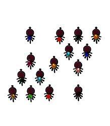 15 Multicolor Stone Bindis
