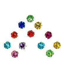 Multicolor Stone Studded Round Bindis