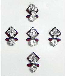 White Stone Studded Small Bindis