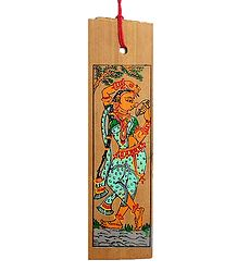 Apsara - Patta Painting on Palm Leaf Bookmark