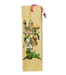 Nataraj ( Bookmark) - Patachitra on Palm Leaf