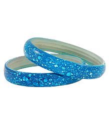 Pair of Cyan Blue Acrylic Bangles