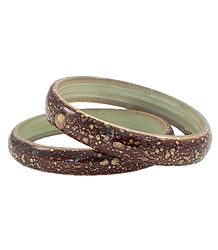 Pair of Brown Acrylic Bangles