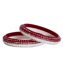 A Pair of Stone Studded Acrylic Bangles