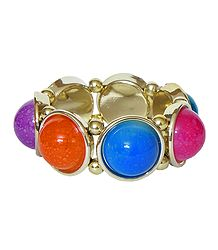 Multicolor Acrylic Stretch Bracelet
