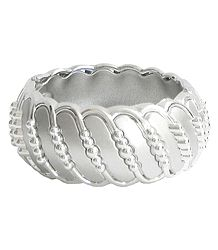 Light Grey Acrylic Hinged Bracelet