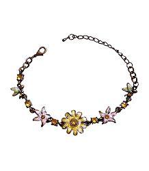 Lacqured Metal Charm Bracelet