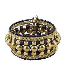 Metal Bead Cuff Bracelet
