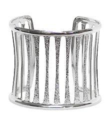 Faux Silver Cuff Bracelet