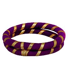 Pair of Purple Thread Bangles