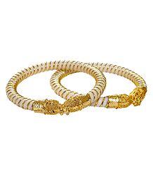 Gold Plated White Shankha