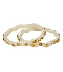 Gold Plated White Shankha