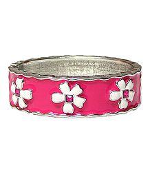 Dark Pink Hinged Bracelet