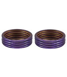 Set of 2 Dark Purple Lac Churis
