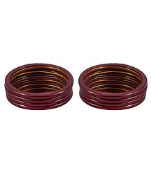 Set of 2 Dark Maroon Lac Churis