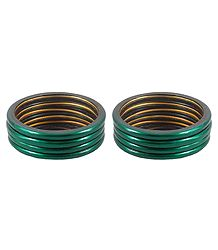 Set of 2 Dark Green Lac Churis