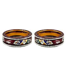 Stone Studded Multicolor Lac Bangles