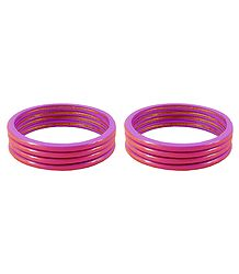 Set of 2 Pink Lac Churis