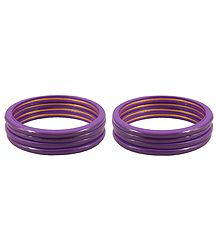 Set of 2 Purple Lac Churis