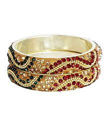 Multicolor Stone Studded Bangles