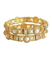 Gold Plated Metal Bangles