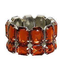 Stone Studded Stretchable Link Bracelet
