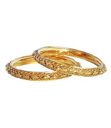 Gold Plated on Silver Bangles