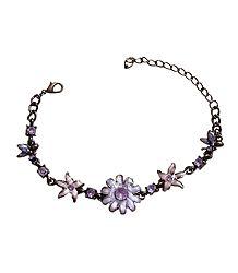 Oxidised Metal Charm Bracelet