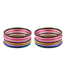 Buy 2 Sets of Multicolor Metal Bangles